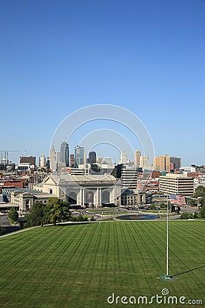 Kansas City Skyline - Union Station Editorial Photography