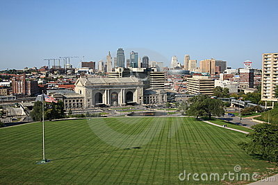 Kansas City Skyline - Union Station Editorial Photography