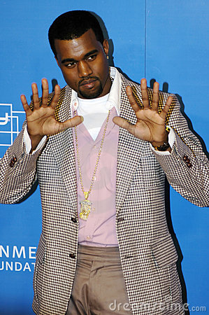 Kanye West on the red carpet Editorial Photo