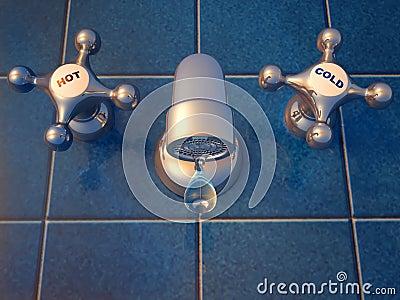 Kapiący faucet