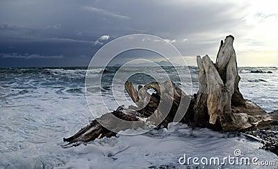 Kapiti Island Stormy