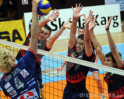 Kaposvar - Bled volleyball game Editorial Stock Image