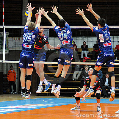 Kaposvar - Bled volleyball game Editorial Image