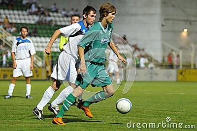 Kaposvar - Brescia u18 soccer game Editorial Photo