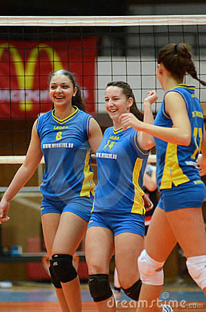 Kaposvar - Eger volleyball game Editorial Image