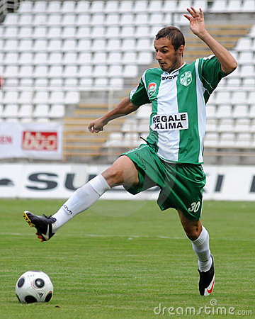Kaposvar-Ferencvaros soccer game Editorial Photo