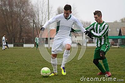 Kaposvar - Ferencvaros U16 soccer game Editorial Image