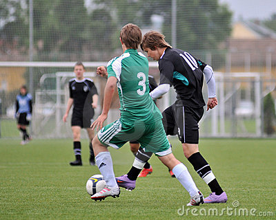 Kaposvar - Gyor U15 soccer game Editorial Stock Photo