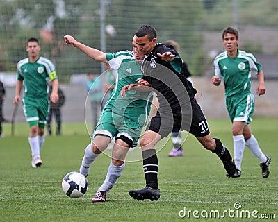 Kaposvar - Gyor U15 soccer game Editorial Photo