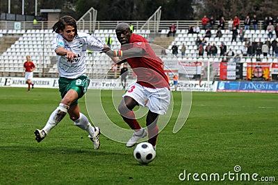 Kaposvar - Honved soccer game Editorial Image