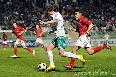 Kaposvar - Honved soccer game Editorial Stock Image