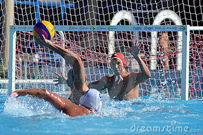 Kaposvar - Honved waterpolo game Editorial Photography