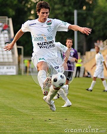 Kaposvar - Kecskemet soccer game Editorial Image