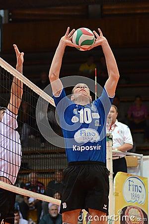 Kaposvar - MAFC volleyball game Editorial Photo