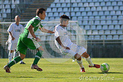 Kaposvar-Paks under 19 soccer game Editorial Stock Image