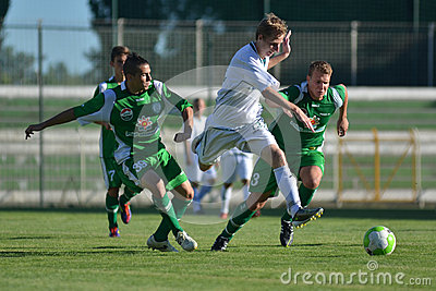 Kaposvar-Paks under 19 soccer game Editorial Stock Photo