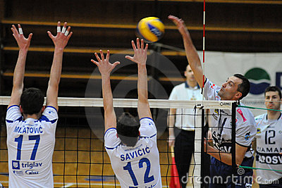 Kaposvar - Salonit Anhovo volleyball game Editorial Photography
