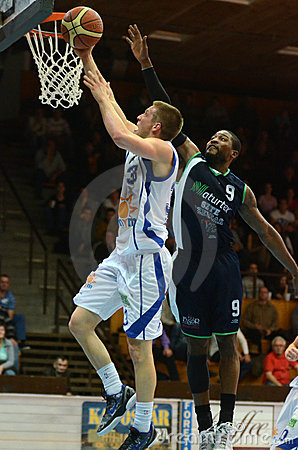 Kaposvar - Szeged basketball game Editorial Photography