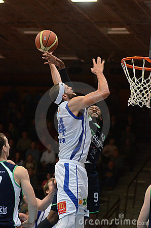 Kaposvar - Szeged basketball game Editorial Stock Image