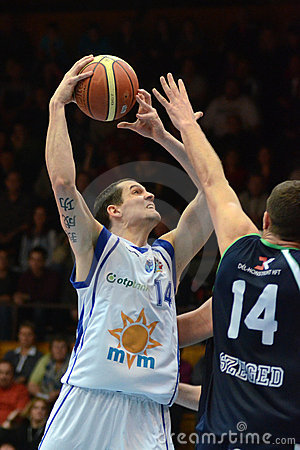 Kaposvar - Szeged basketball game Editorial Photo