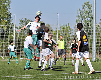 Kaposvar - Szekszard U15 soccer game Editorial Photo