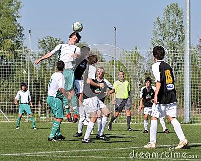 Kaposvar - Szekszard U15 soccer game Editorial Photo