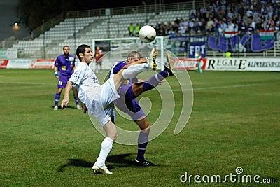 Kaposvar - Ujpest soccer game Editorial Stock Image