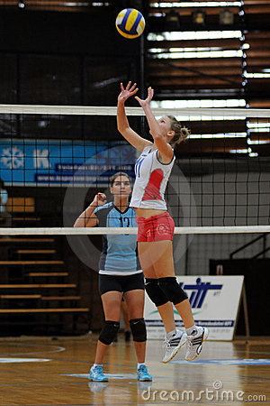Kaposvar-Veszprem volleyball game Editorial Photography