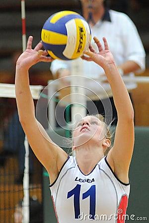 Kaposvar-Veszprtem volleyball game Editorial Photography
