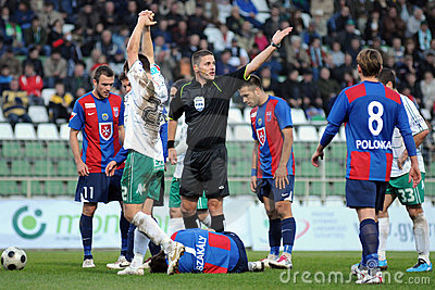 Kaposvar - Videoton soccer game Editorial Photo