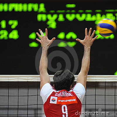 Kaposvar - Wien volleyball game Editorial Photo