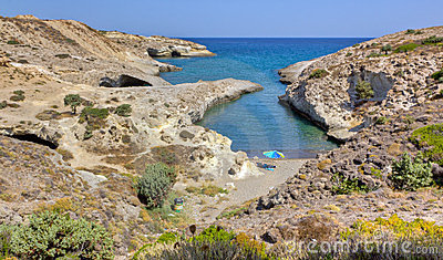 Kapros beach, Milos, Cyclades, Greece