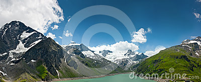 Kaprun area, lake and Alps