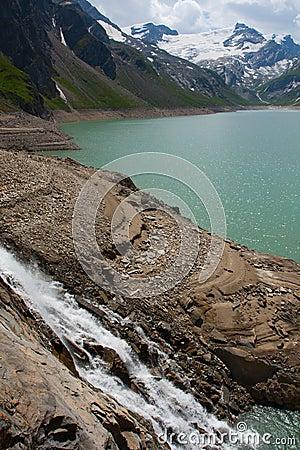 Kaprun area, lake and Alps