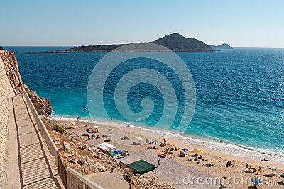 Kaputas beach, Turkey Editorial Stock Image