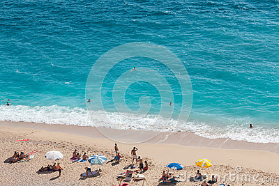 Kaputas beach, Turkey Editorial Stock Photo