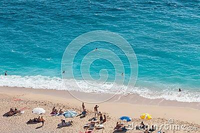 Kaputas beach, Turkey Editorial Stock Photo