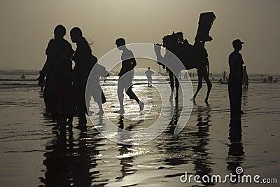 Karachi Beach Silhouette