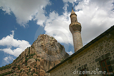 Karahisar castle and minaret