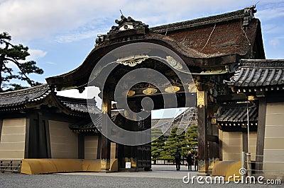 Karamon Entrance to Nijo-jo (Nijo Castle) Editorial Photography
