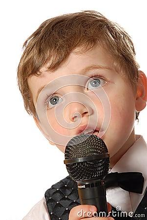 Free Karaoke Boy Stock Photo - 695460