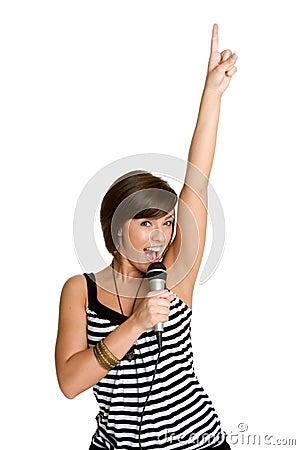 Free Karaoke Girl Royalty Free Stock Photo - 5403675