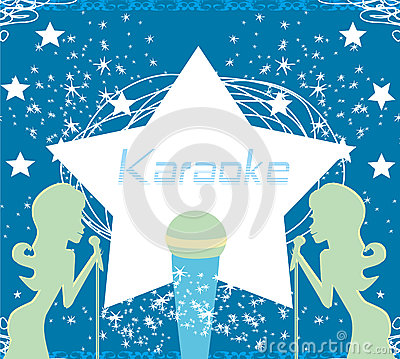 Karaoke party invitation vector illustration cartoondealer karaoke party invitation vector illustration stopboris Choice Image