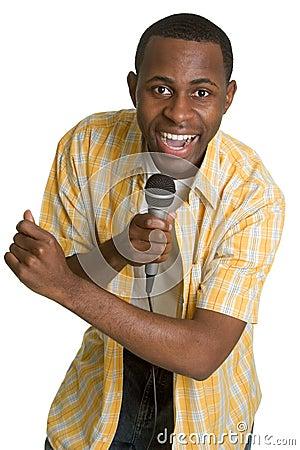 Karaoke Singing Man