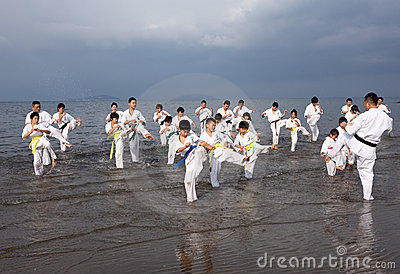 Karate Editorial Stock Image