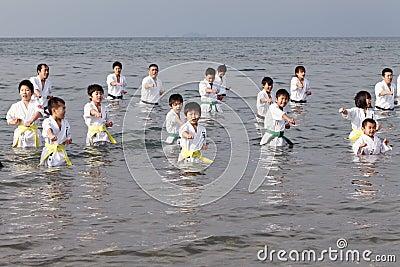 Karate boys Editorial Photography