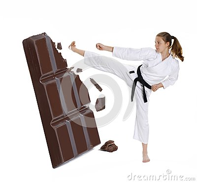 Karate and chocolate.