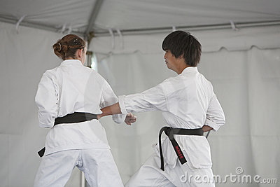 Karate Demonstration Editorial Photo