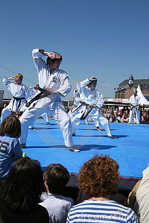 Karate demonstration Editorial Photography