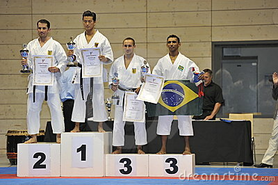 Karate, European Master Cup, Kata Winners Editorial Stock Photo